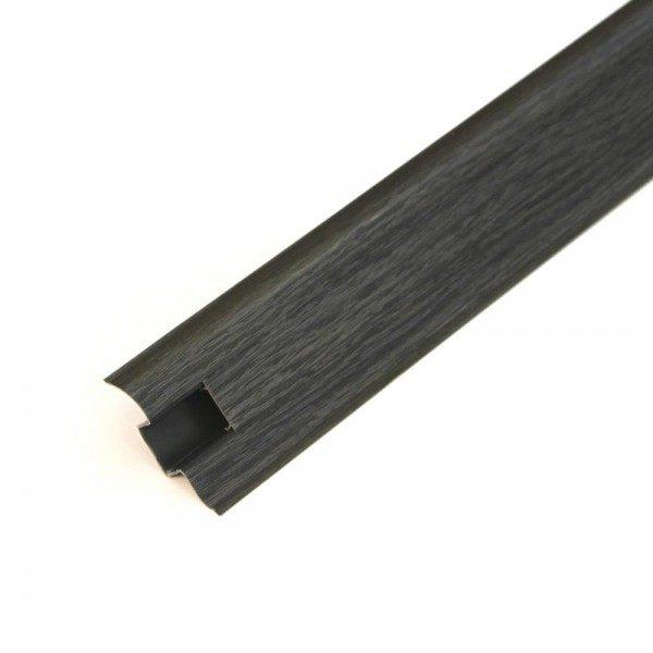 Напольный пластиковый плинтус пвх Идеал Комфорт к55 Венге Черный 302 (ideal Comfort 55х22х2500 мм)