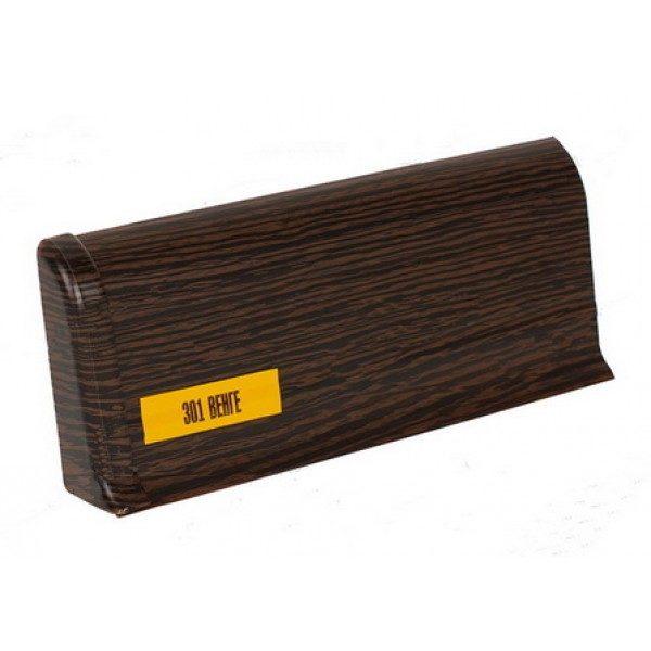 Напольный пластиковый плинтус пвх Идеал Комфорт к55 Венге 301 (ideal Comfort 55х22х2500 мм)
