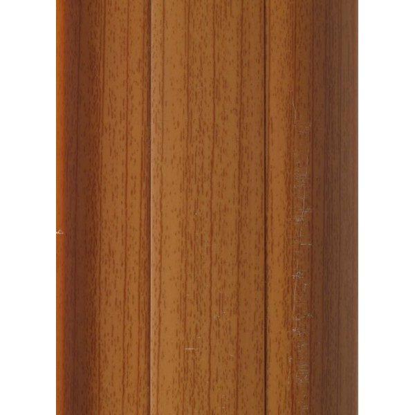 Напольный пластиковый плинтус пвх Идеал Комфорт к55 Вишня Темная 244 (ideal Comfort 55х22х2500 мм)