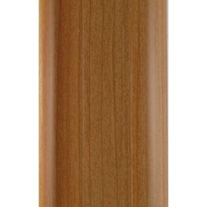 Напольный пластиковый плинтус пвх Идеал Комфорт к55 Вишня 241 (ideal Comfort 55х22х2500 мм)