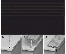 Порог для ступеней Идеал 007 Черный 32х16х900 мм (с дюбель-гвоздями)