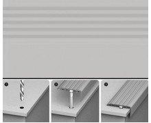 Порог для ступеней Идеал 002 Светло-серый 45х22х900 мм (с дюбель-гвоздями)