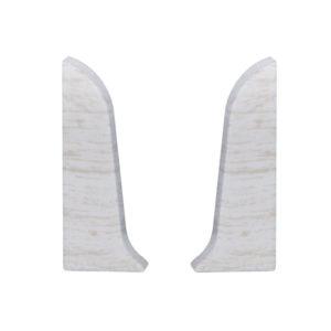 Заглушки торцевые (левая + правая) на плинтус пластиковый Лидер 75