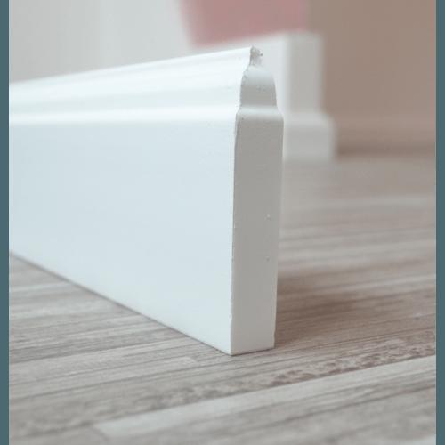 Плинтус ПВХ под покраску Rico Color HSP 80, 80 мм Белый