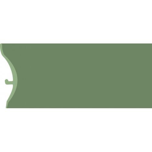 Каннелюрный трехсоставной плинтус для линолеума зелёный