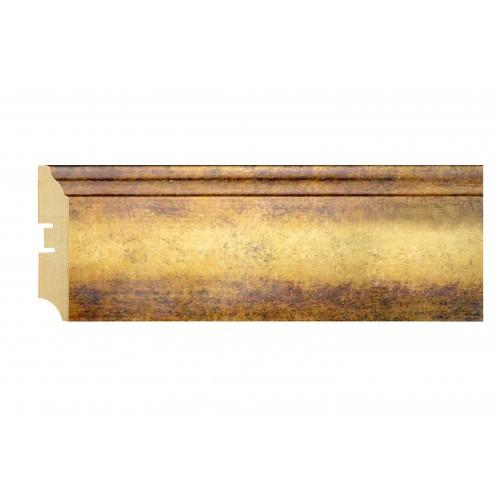 Плинтус МДФ Smartprofile Металлизированный 82 Золото №2 2,4 м